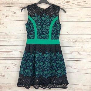 Vintage Guipure Leaf Lace A Line Dress